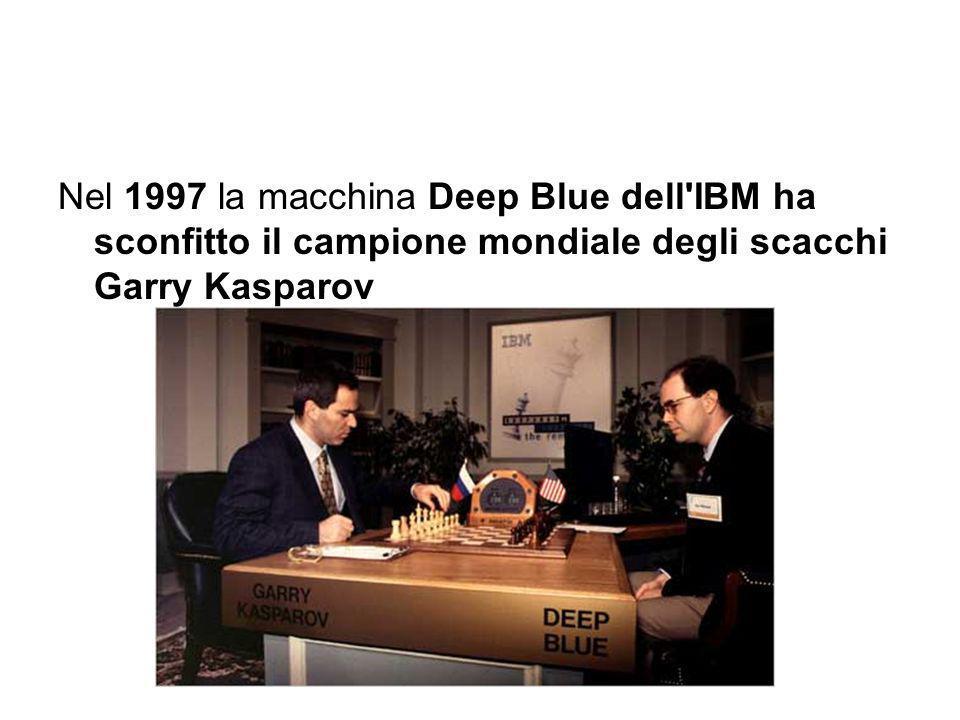 Nel 1997 la macchina Deep Blue dell IBM ha sconfitto il campione mondiale degli scacchi Garry Kasparov