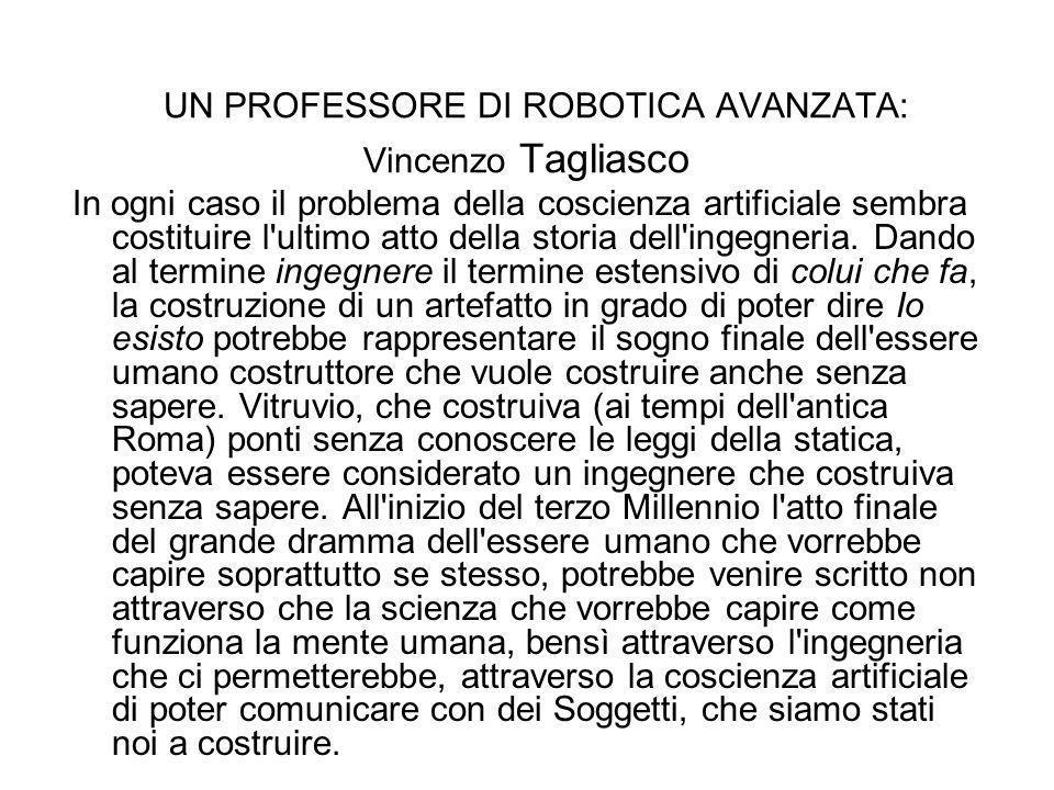 UN PROFESSORE DI ROBOTICA AVANZATA: Vincenzo Tagliasco