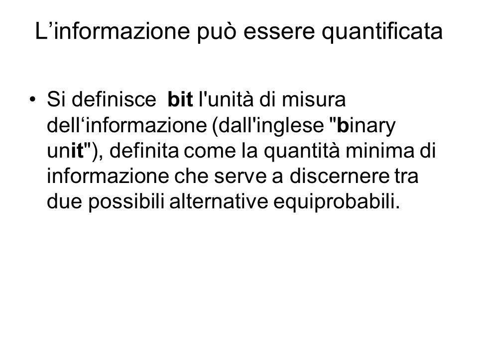 L'informazione può essere quantificata