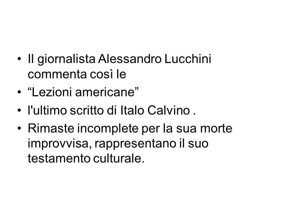 Il giornalista Alessandro Lucchini commenta così le