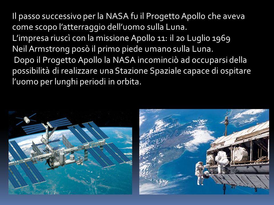Il passo successivo per la NASA fu il Progetto Apollo che aveva come scopo l'atterraggio dell'uomo sulla Luna.