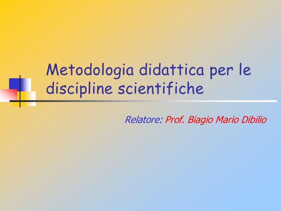 Metodologia didattica per le discipline scientifiche