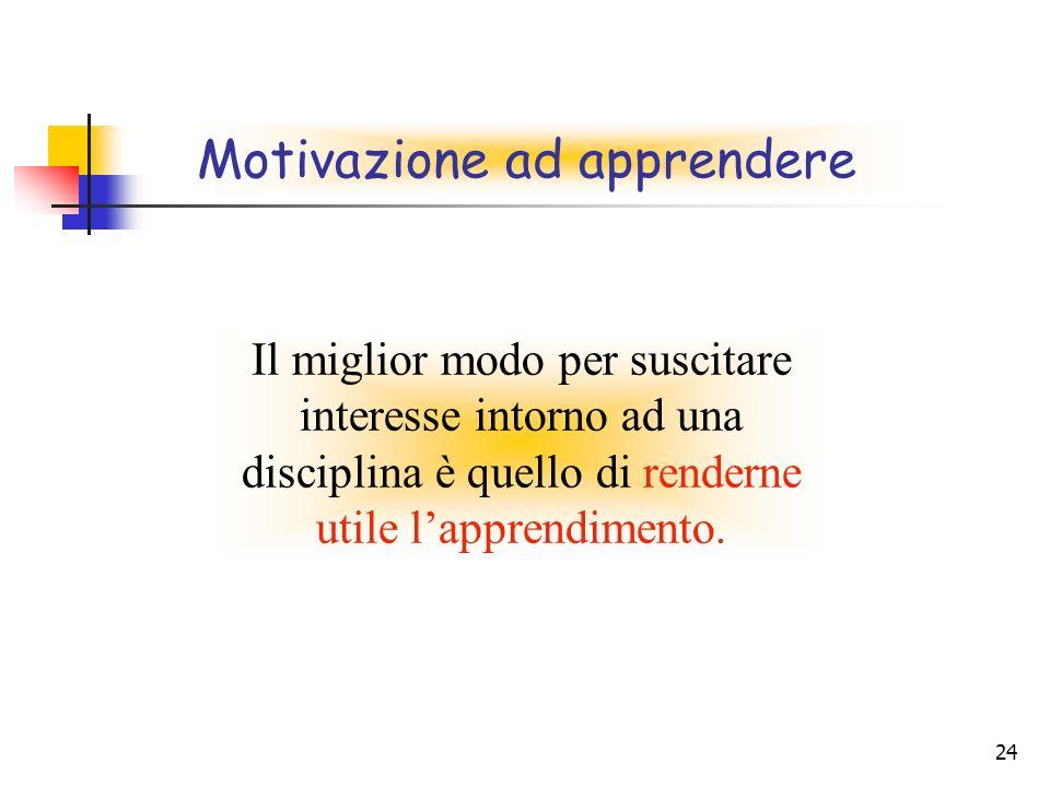 Motivazione ad apprendere