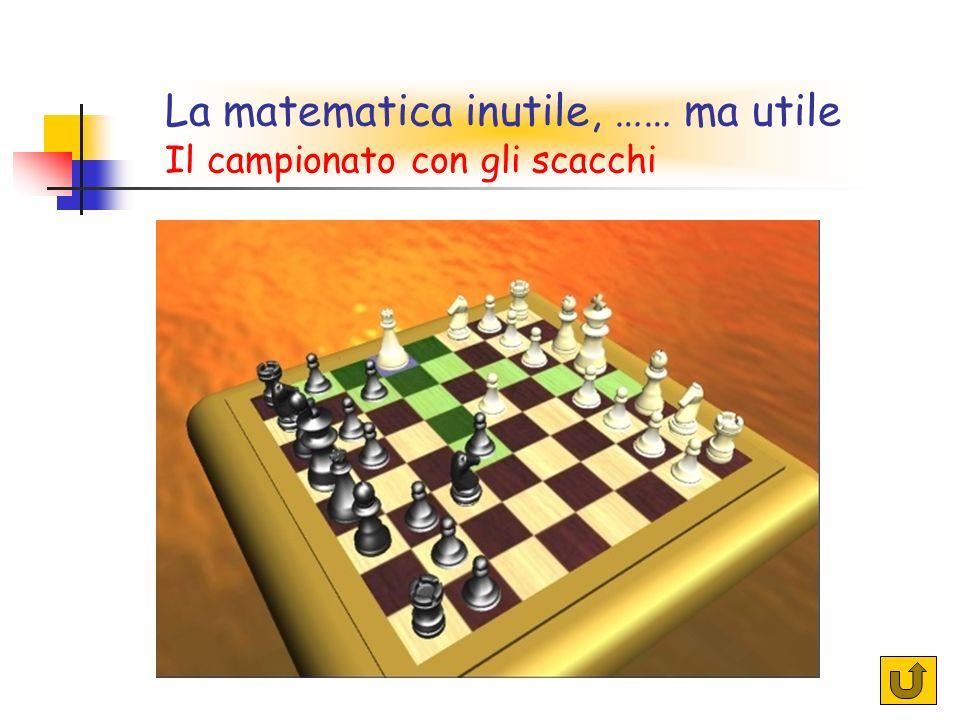 La matematica inutile, …… ma utile Il campionato con gli scacchi