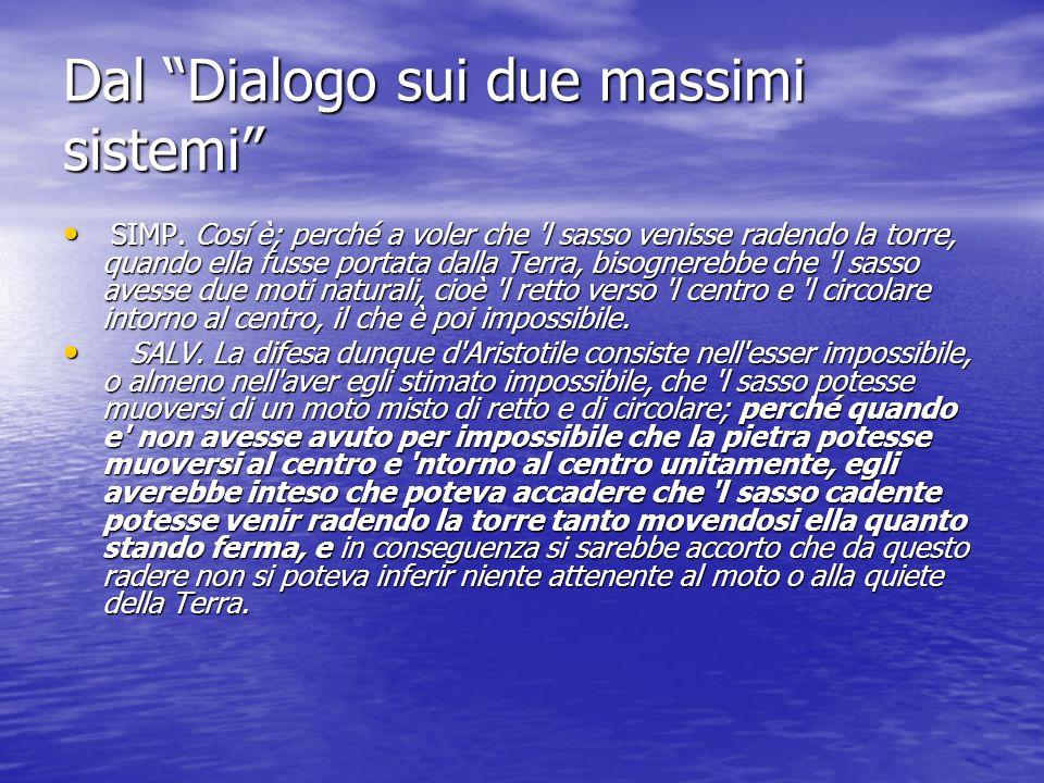 Dal Dialogo sui due massimi sistemi