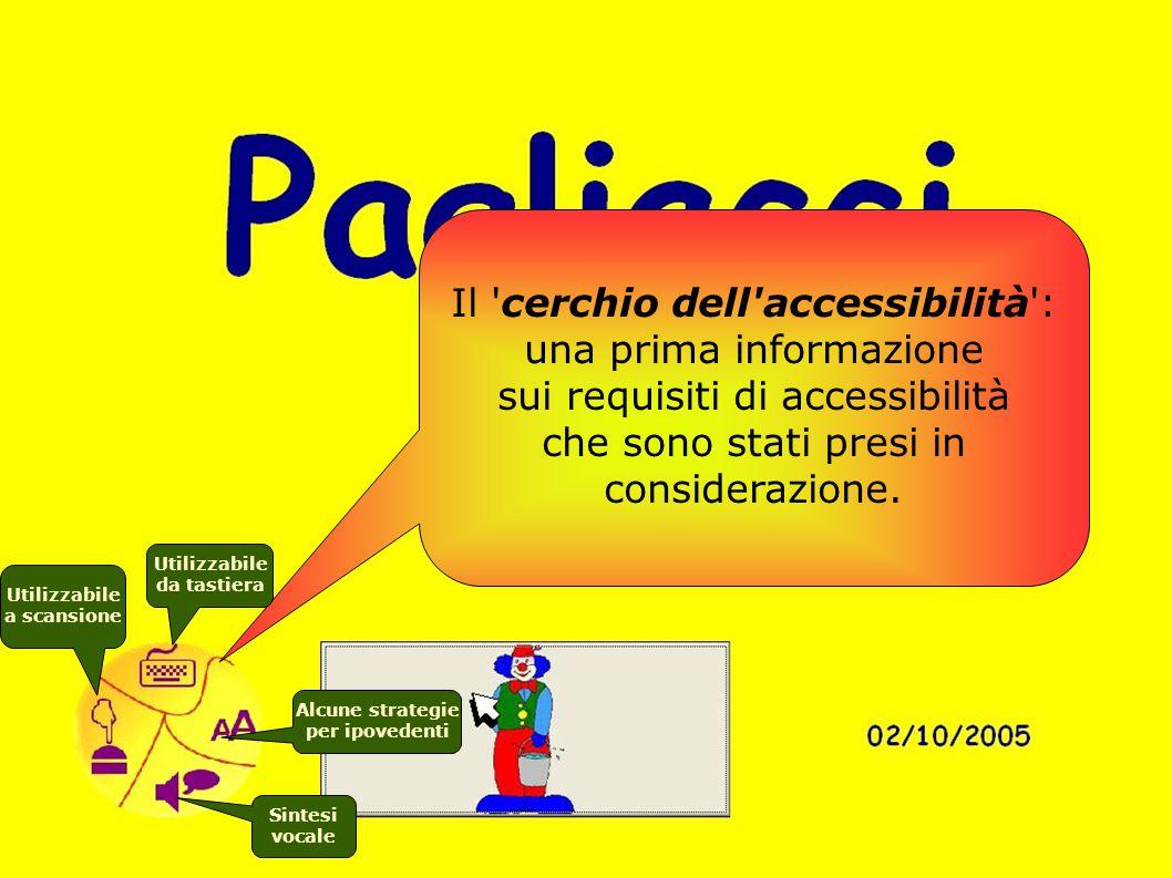 Il cerchio dell accessibilità : una prima informazione