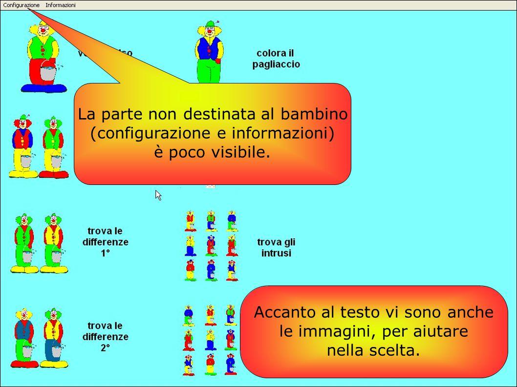La parte non destinata al bambino (configurazione e informazioni)