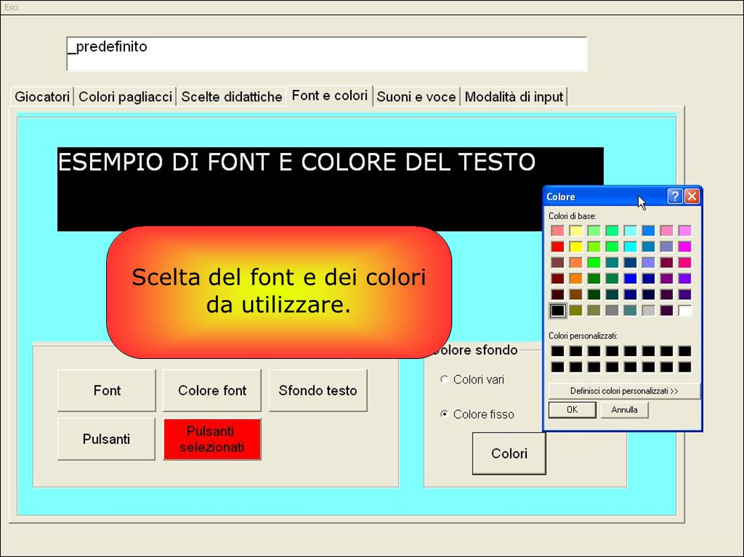 Scelta del font e dei colori