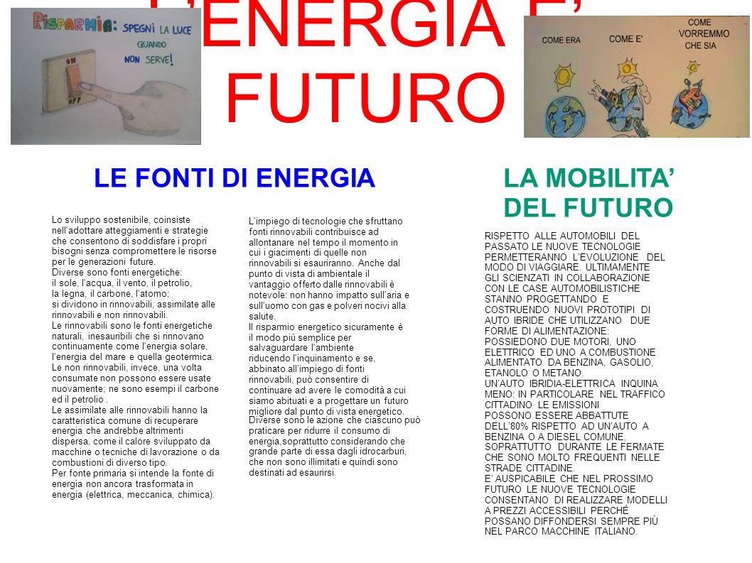 LA MOBILITA' DEL FUTURO