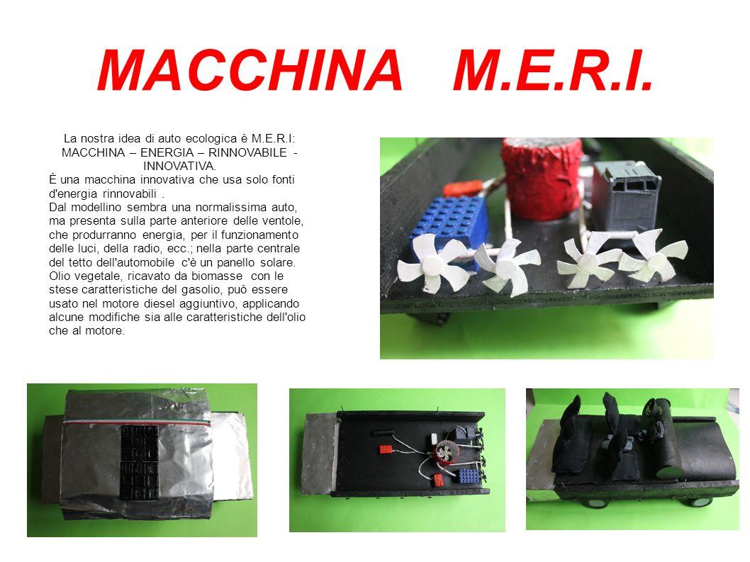MACCHINA M.E.R.I. La nostra idea di auto ecologica è M.E.R.I: