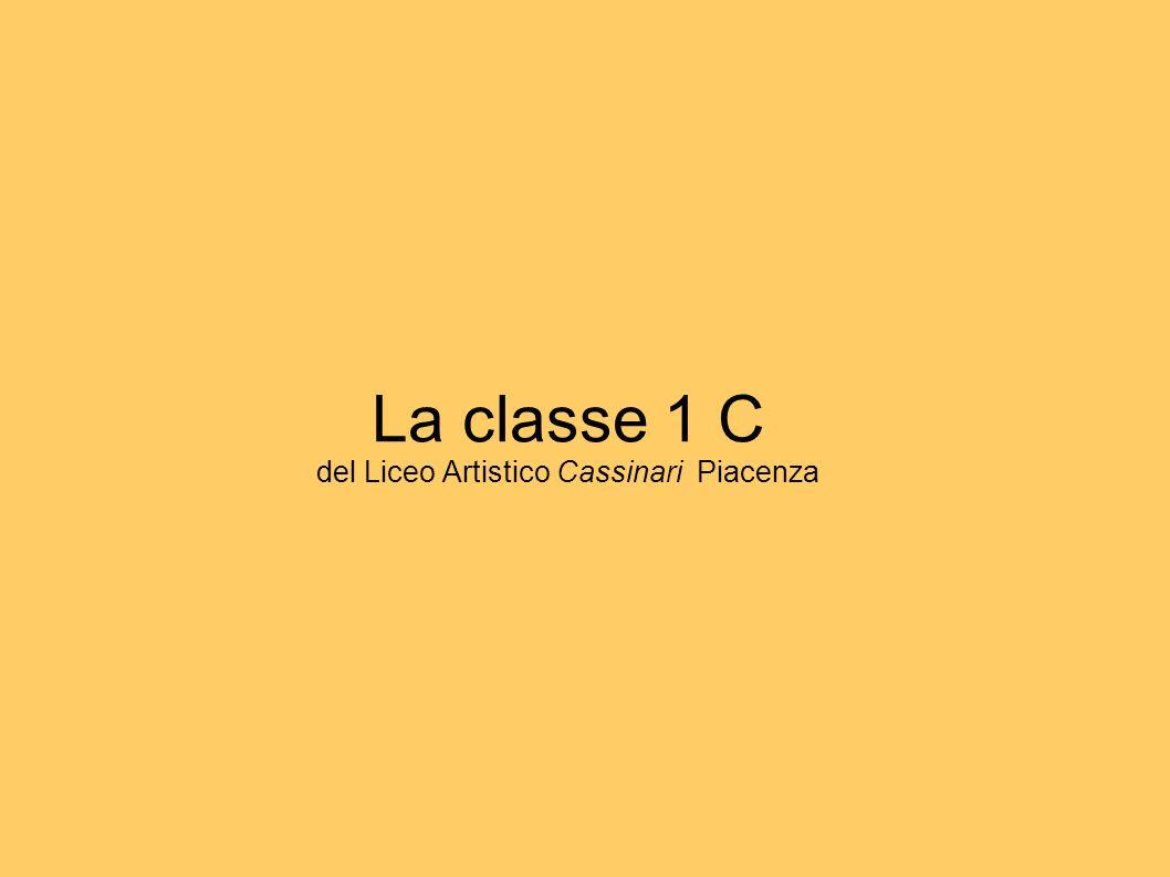La classe 1 C del Liceo Artistico Cassinari Piacenza