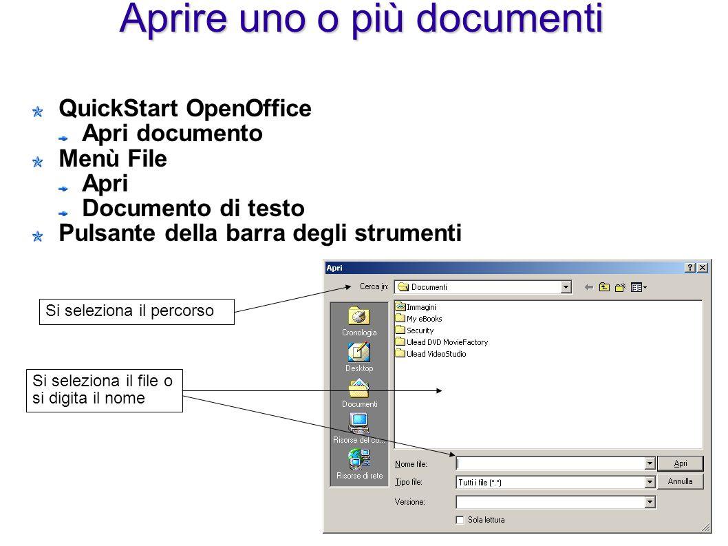 Aprire uno o più documenti