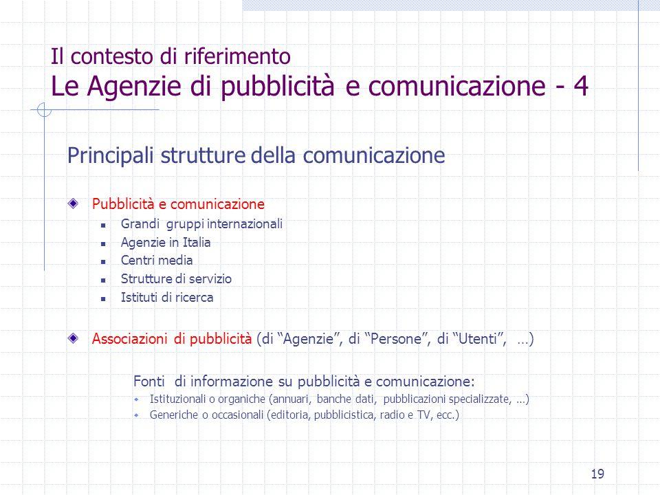 Principali strutture della comunicazione