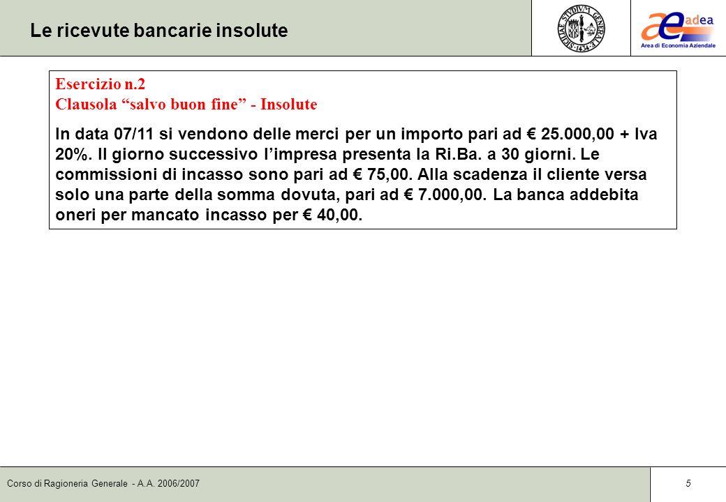 Le ricevute bancarie insolute
