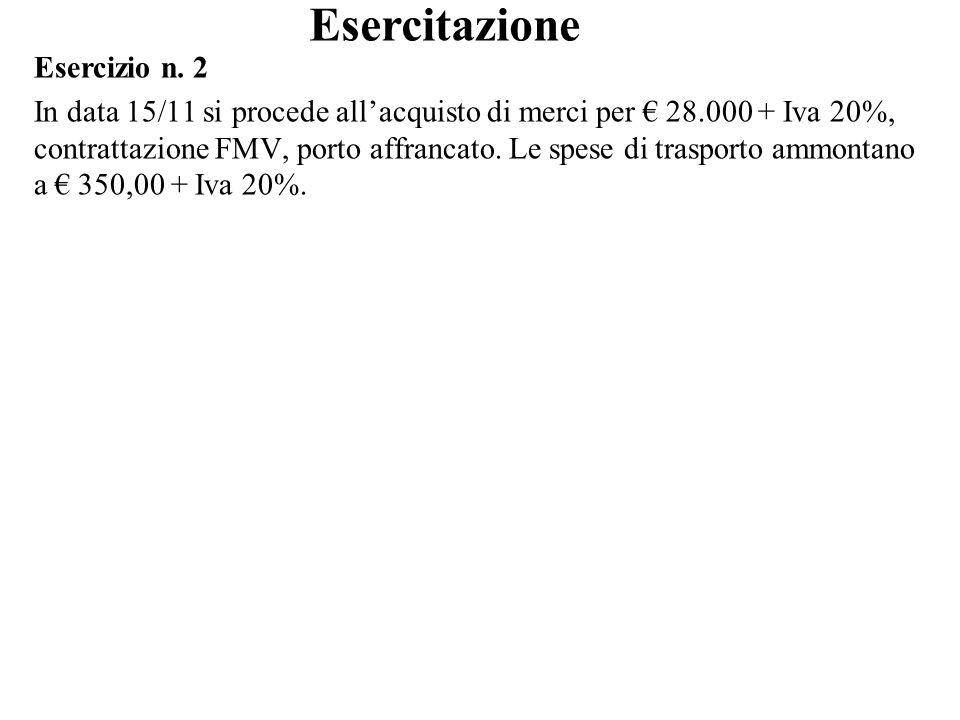 Esercitazione Esercizio n. 2