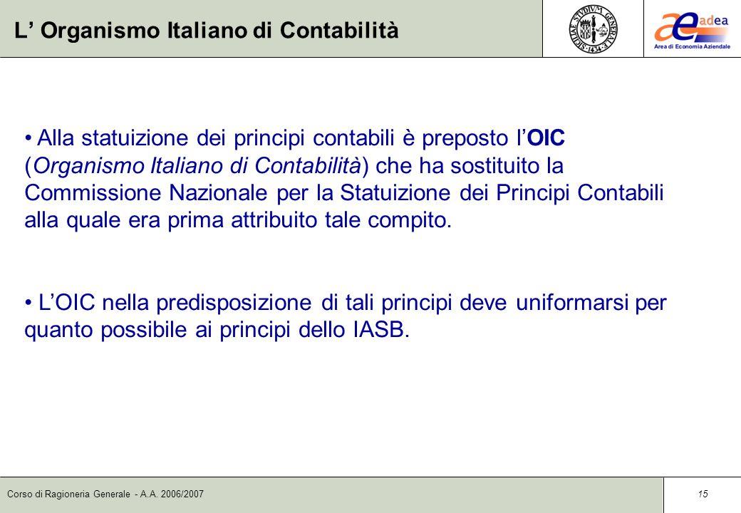 L' Organismo Italiano di Contabilità