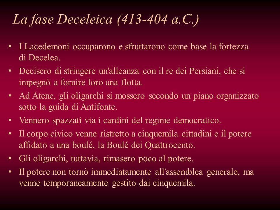 La fase Deceleica (413-404 a.C.)