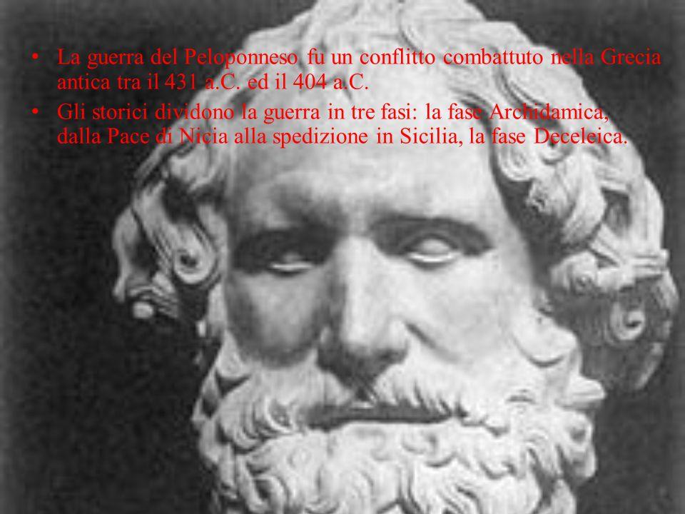 La guerra del Peloponneso fu un conflitto combattuto nella Grecia antica tra il 431 a.C. ed il 404 a.C.