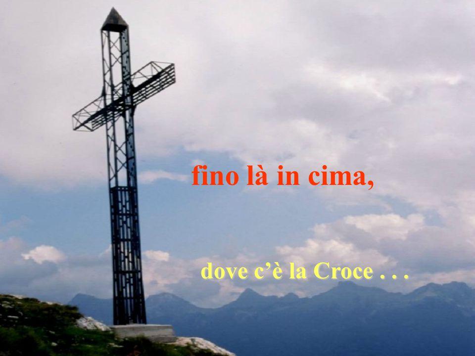 fino là in cima, dove c'è la Croce . . .