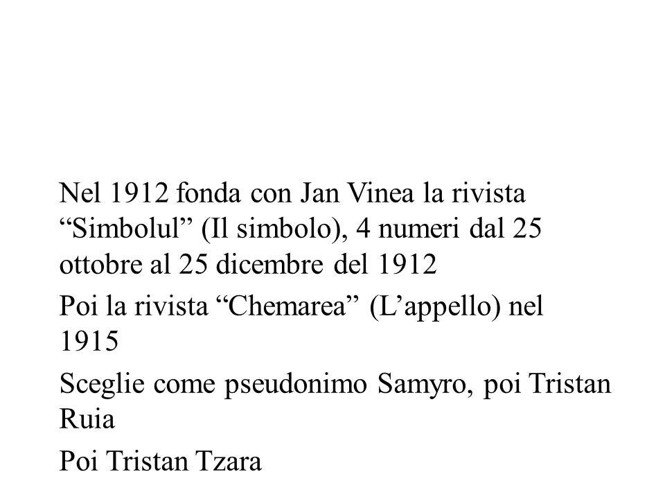 Nel 1912 fonda con Jan Vinea la rivista Simbolul (Il simbolo), 4 numeri dal 25 ottobre al 25 dicembre del 1912
