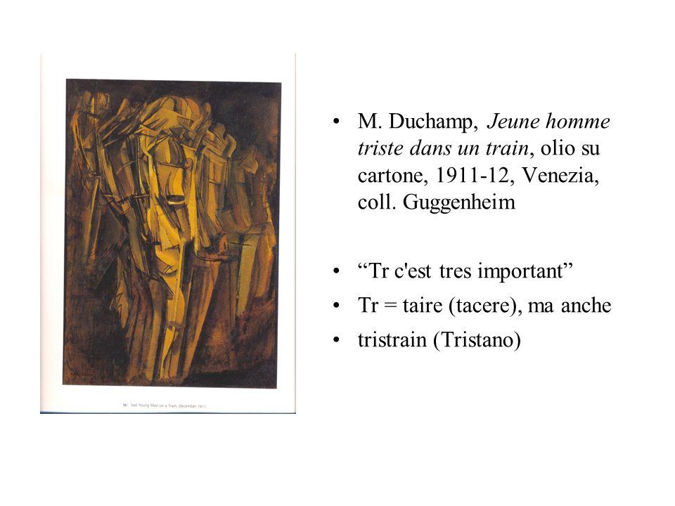M. Duchamp, Jeune homme triste dans un train, olio su cartone, 1911-12, Venezia, coll. Guggenheim