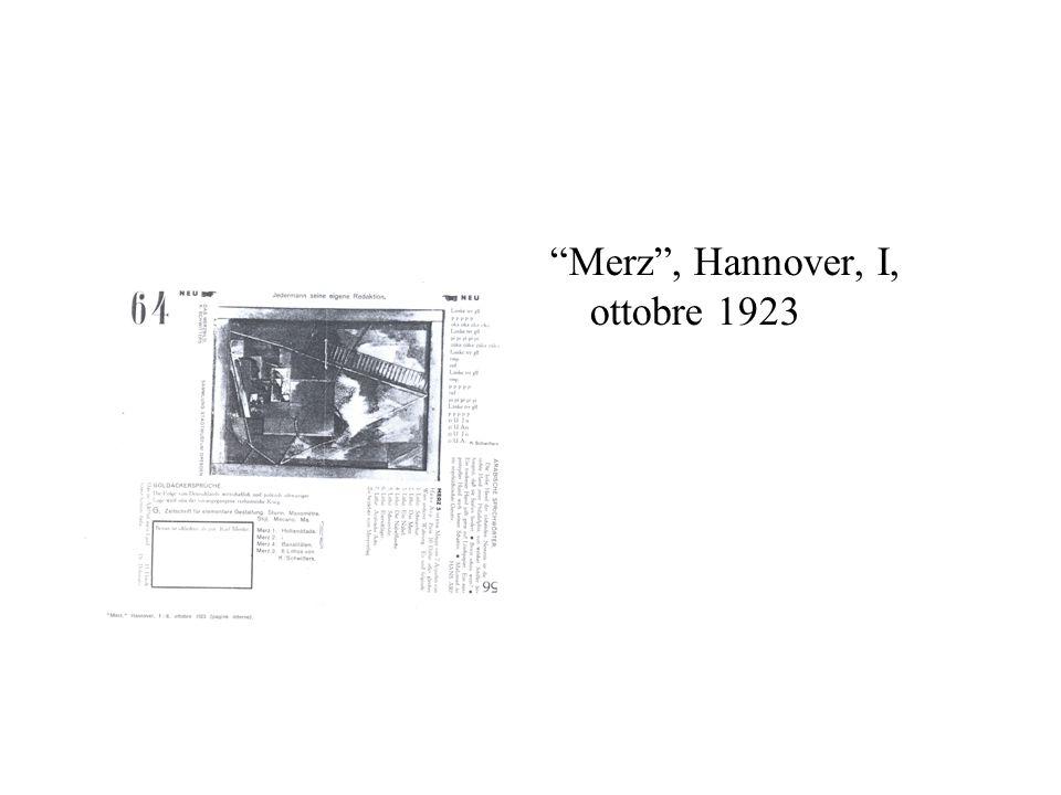 Merz , Hannover, I, ottobre 1923