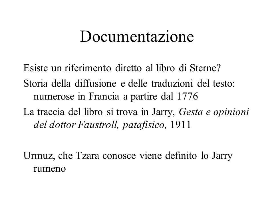 Documentazione Esiste un riferimento diretto al libro di Sterne