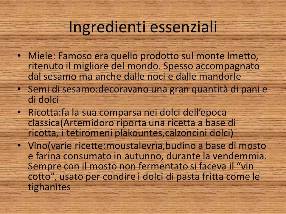 Ingredienti essenziali