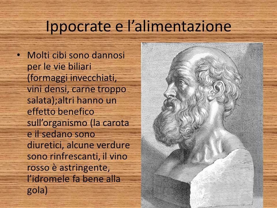 Ippocrate e l'alimentazione