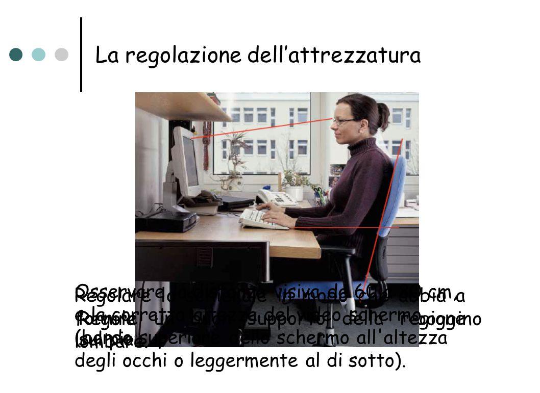 La regolazione dell'attrezzatura