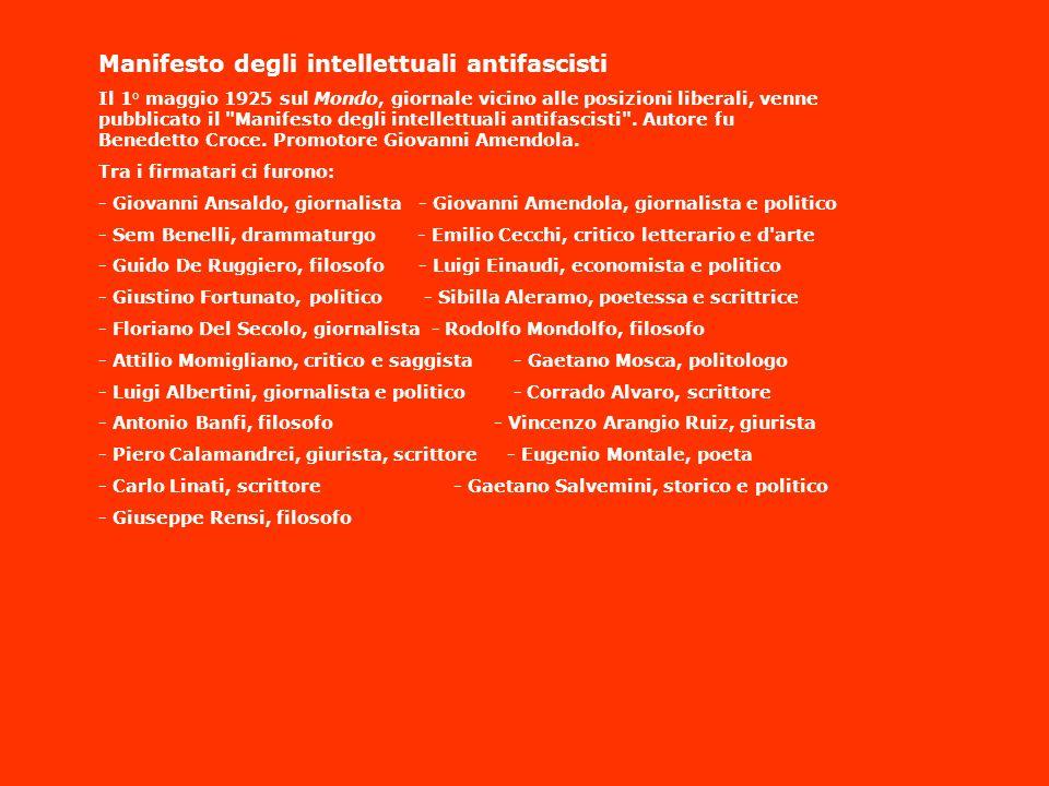 Manifesto degli intellettuali antifascisti