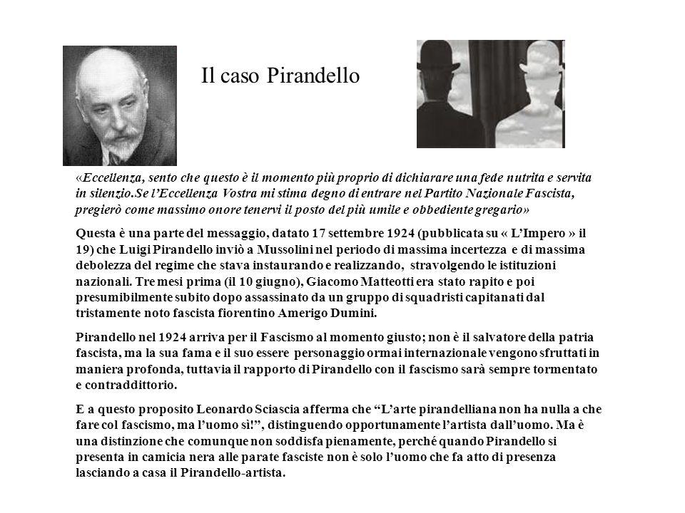 Il caso Pirandello