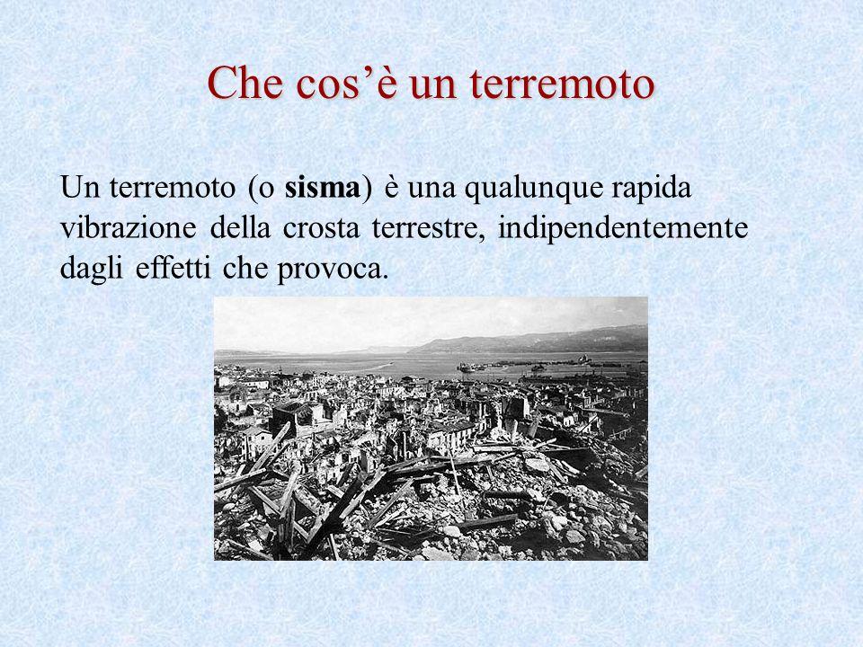 Che cos'è un terremoto Un terremoto (o sisma) è una qualunque rapida vibrazione della crosta terrestre, indipendentemente dagli effetti che provoca.