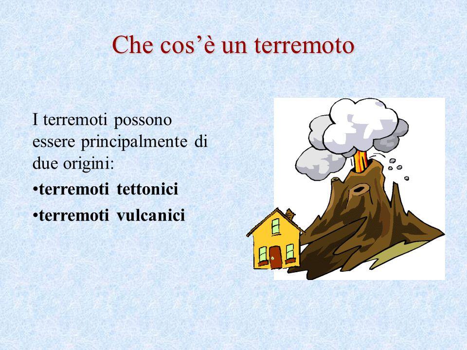Che cos'è un terremoto I terremoti possono essere principalmente di due origini: terremoti tettonici.