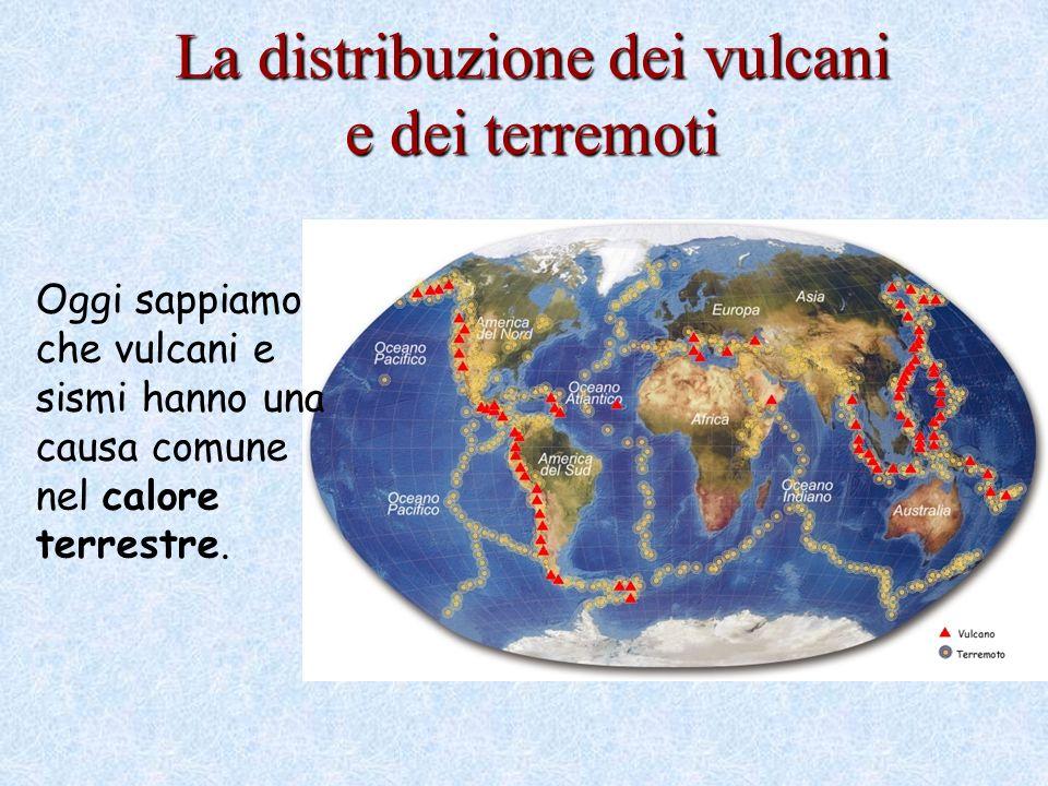 La distribuzione dei vulcani e dei terremoti