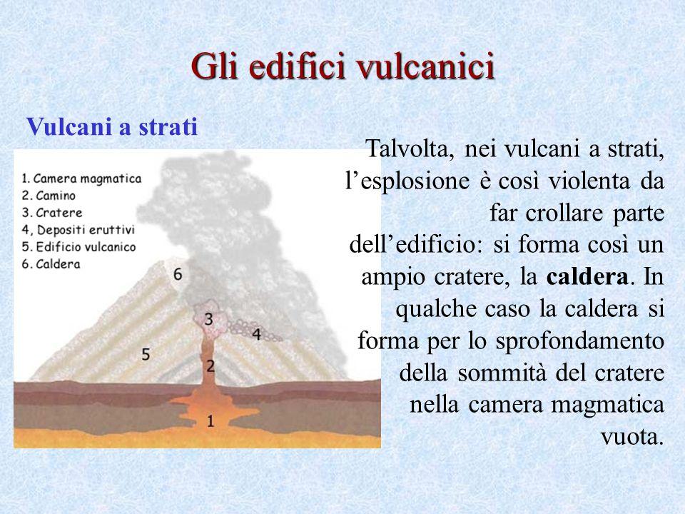 Gli edifici vulcanici Vulcani a strati