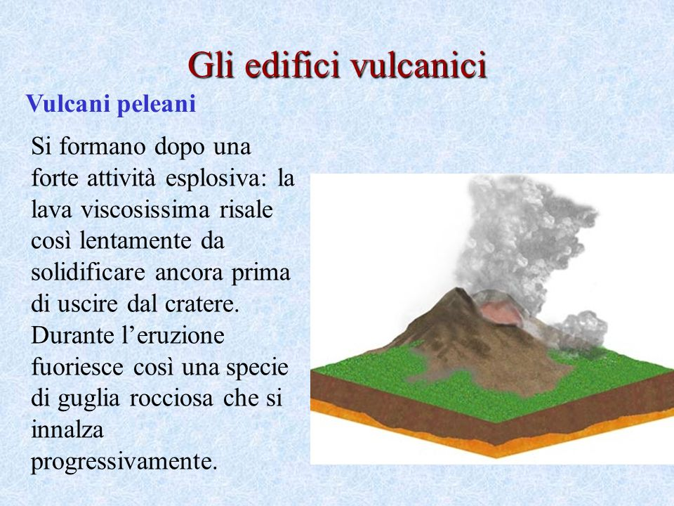 Gli edifici vulcanici Vulcani peleani