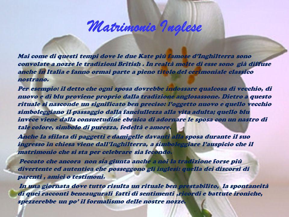 Matrimonio Inglese