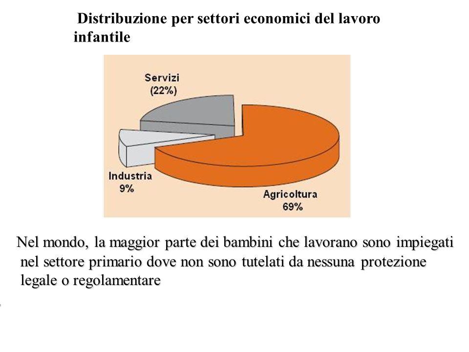 Distribuzione per settori economici del lavoro infantile