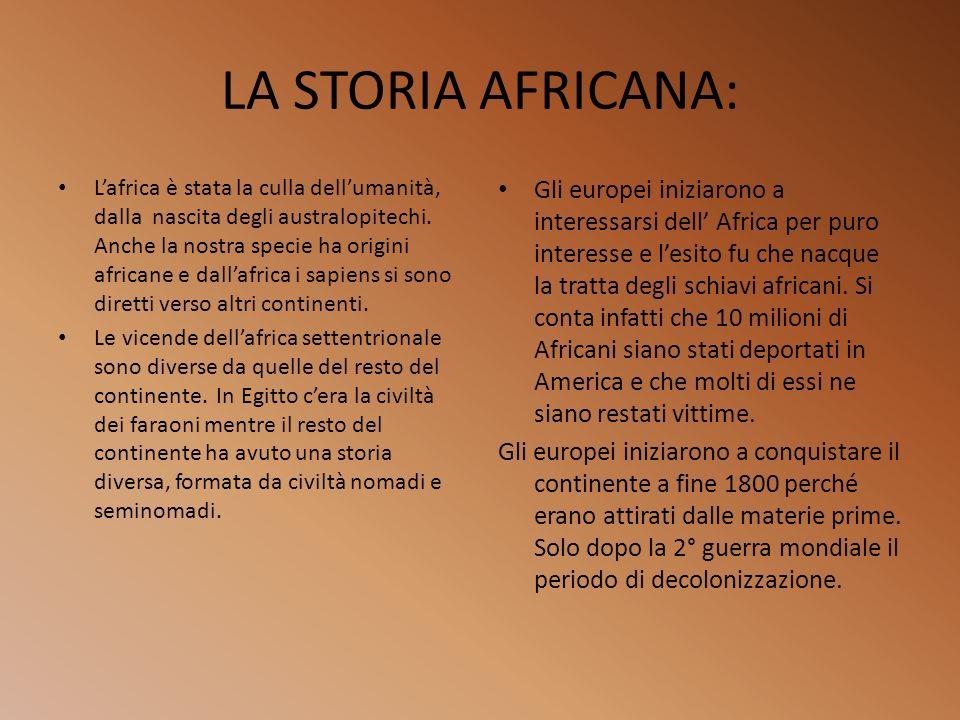 LA STORIA AFRICANA: