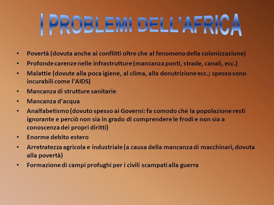 I PROBLEMI DELL'AFRICA