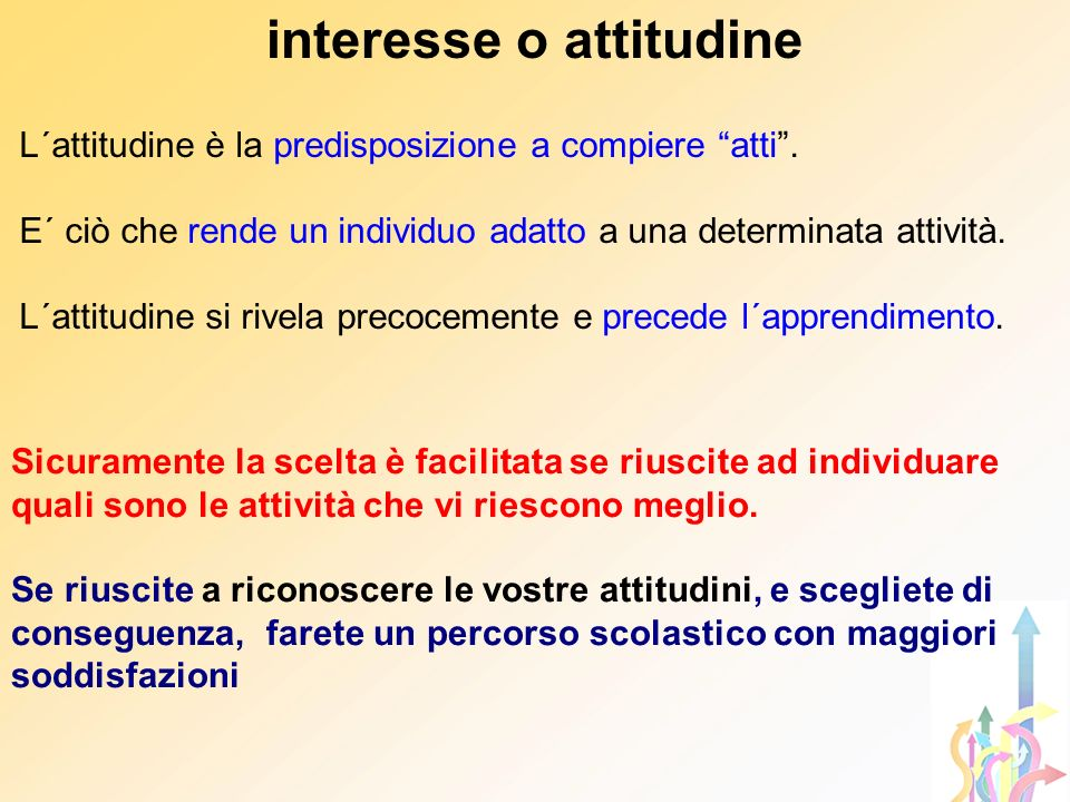 interesse o attitudine