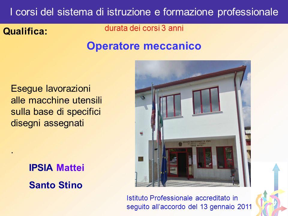 I corsi del sistema di istruzione e formazione professionale