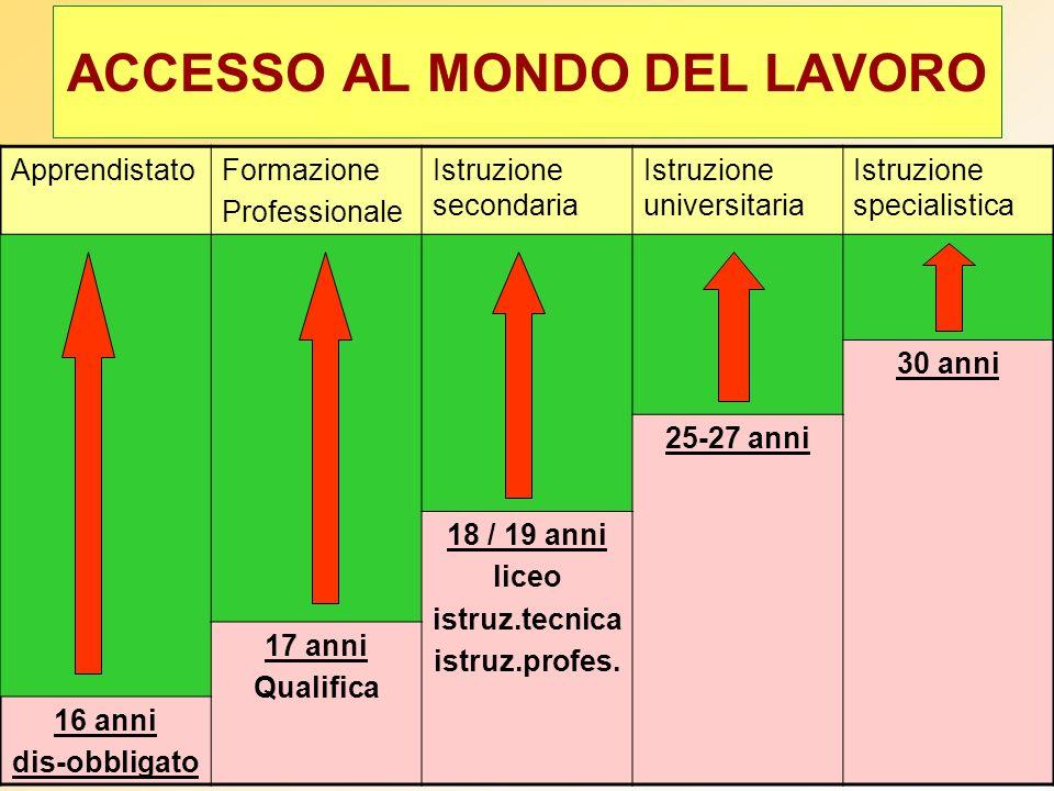 ACCESSO AL MONDO DEL LAVORO