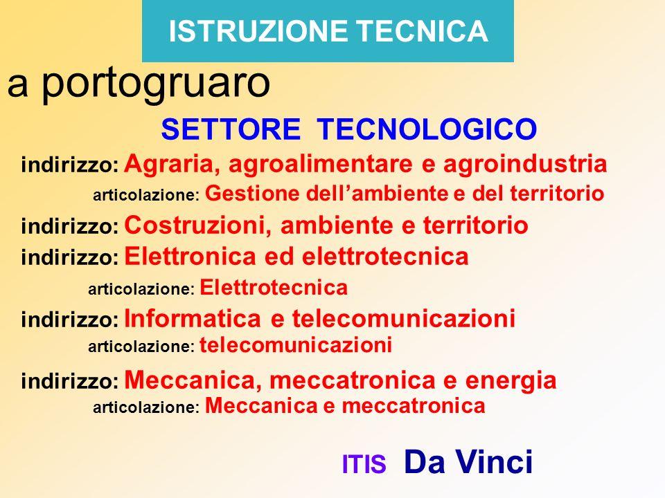 a portogruaro ISTRUZIONE TECNICA SETTORE TECNOLOGICO ITIS Da Vinci