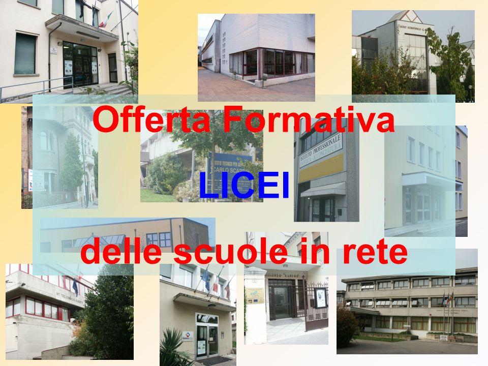 Offerta Formativa LICEI delle scuole in rete