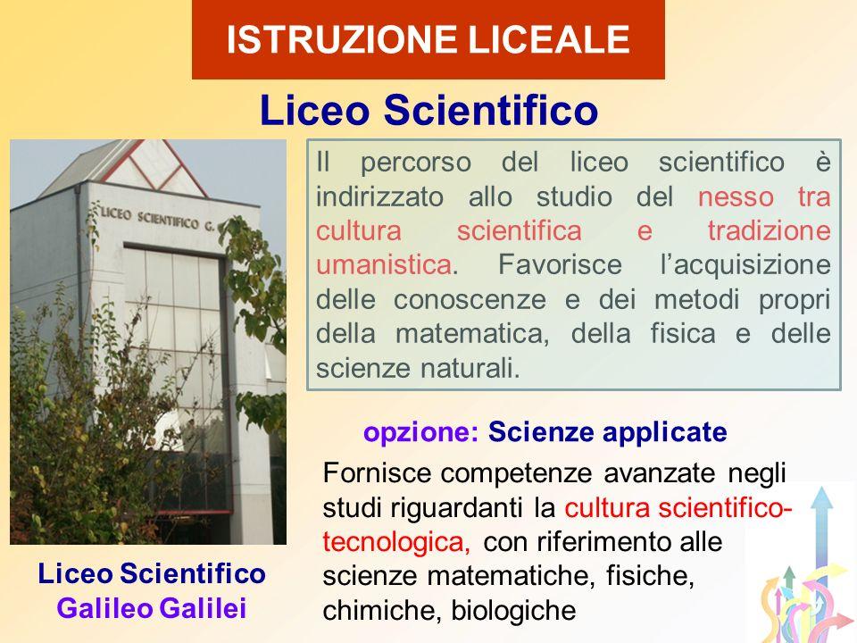 Liceo Scientifico ISTRUZIONE LICEALE