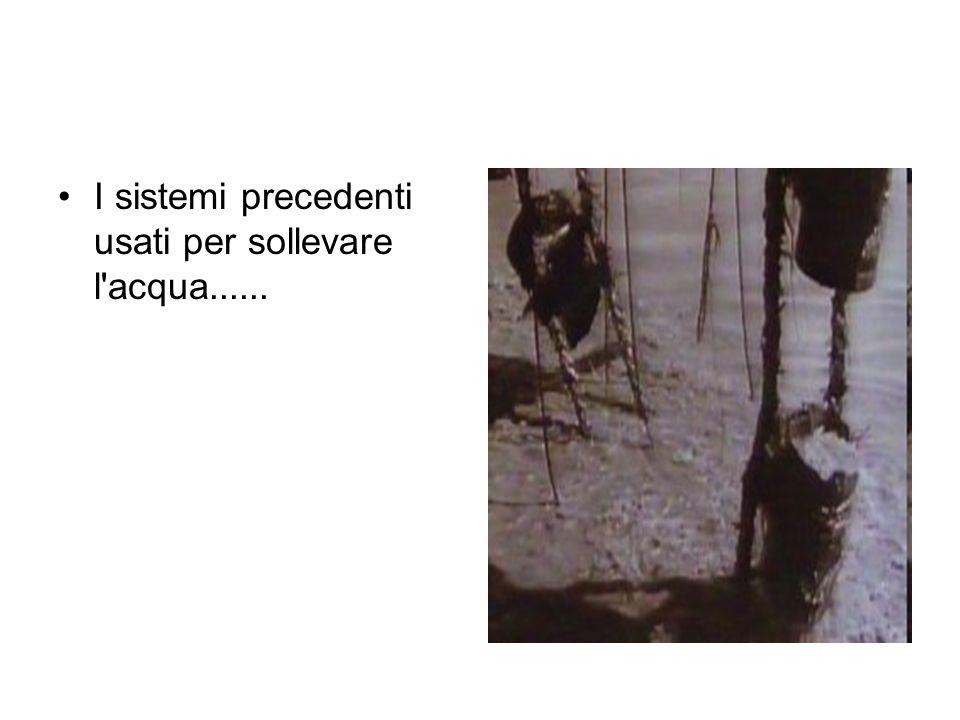 I sistemi precedenti usati per sollevare l acqua......