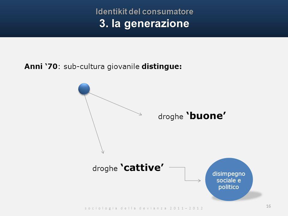 Identikit del consumatore 3. la generazione