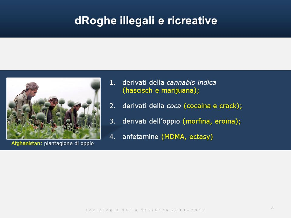 dRoghe illegali e ricreative